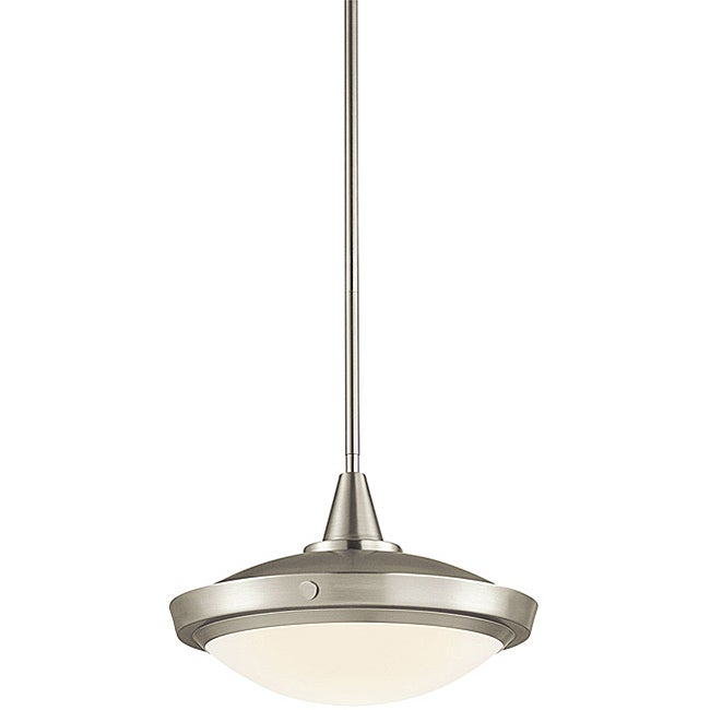 Contemporary Brushed Nickel 1-light Pendant - Thumbnail 0