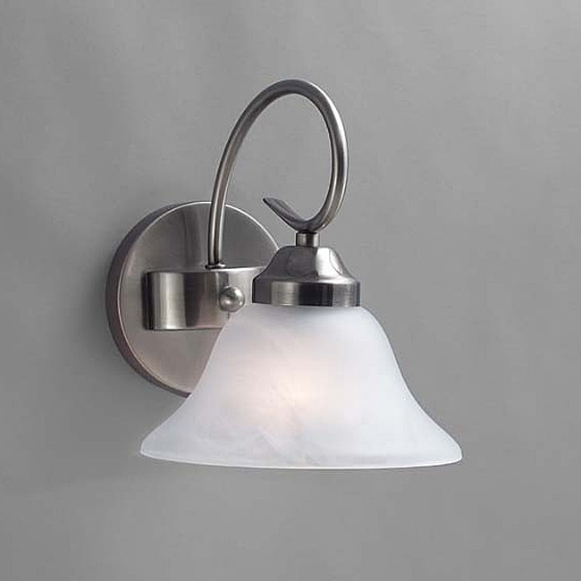 Transitional Brushed Nickel 1-light Bath Light Fixture