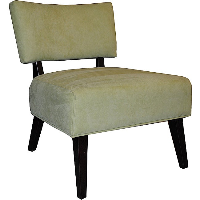 Soft Lime Green Microfiber Metro Accent Chair