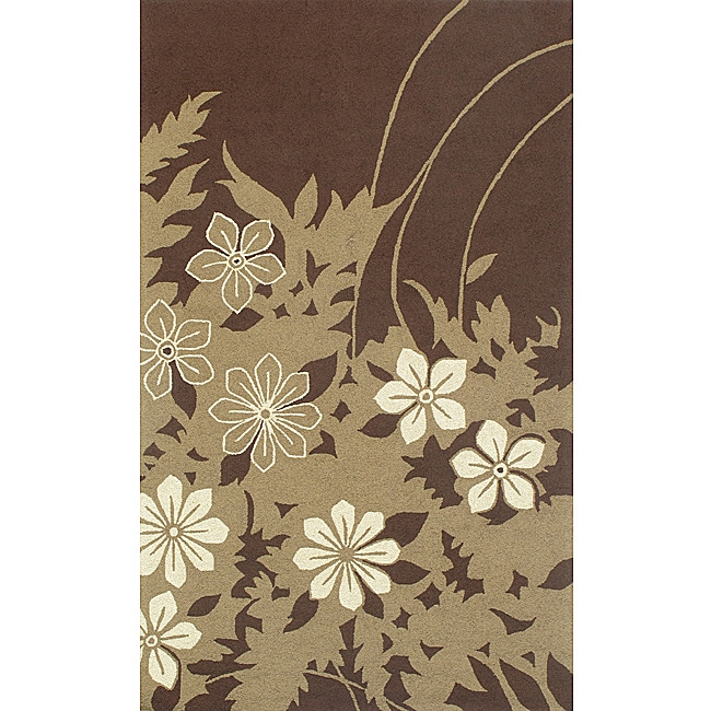 South Beach Indoor/Outdoor Brown Spring Rug (3'9 x 5'9)