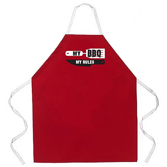 'My BBQ My Rules' Apron-Red