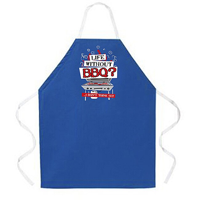 'Life without BBQ' Apron-Blue