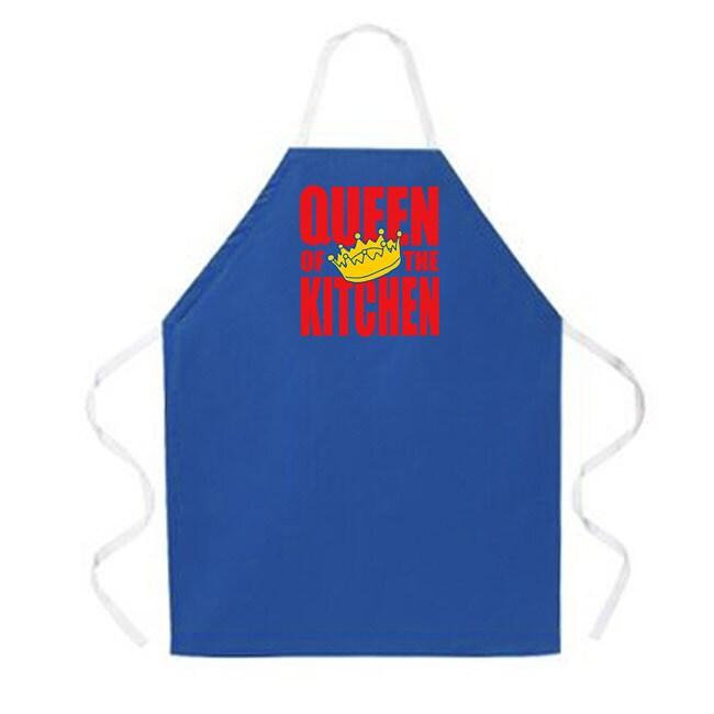 'Queen of the Kitchen' kitchen Apron-Dark Blue