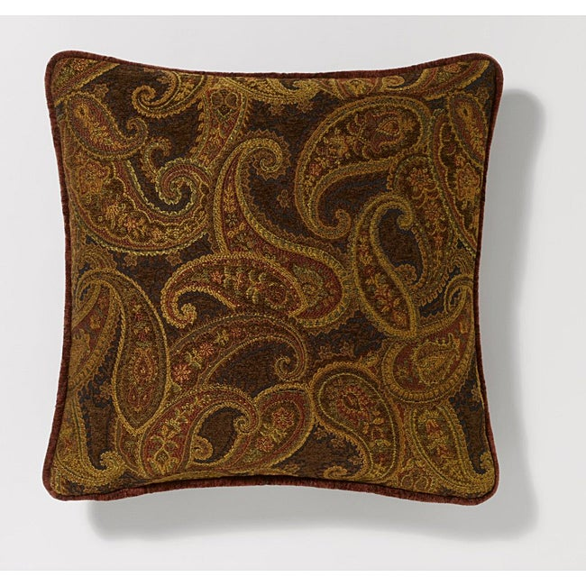Corona Decor Paisley Pattern 18-inch Decorative Pillow