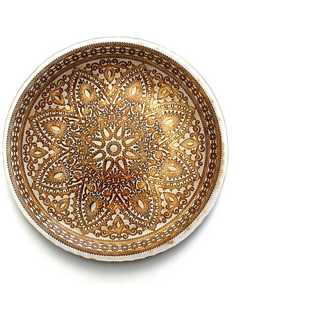 Divine Brown/Cream 12-inch Charger Plates (Set of 4)