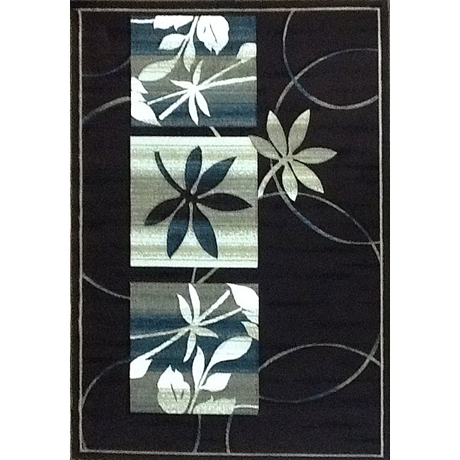 Generations Chocolate Floral Rug (3'9 x 5'1)
