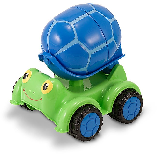Melissa and Doug Scootin' Turtle Cement (Silver) Mixer Truck