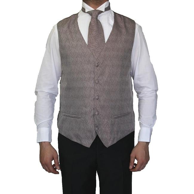 Ferreci Men's Taupe Four-piece Vest