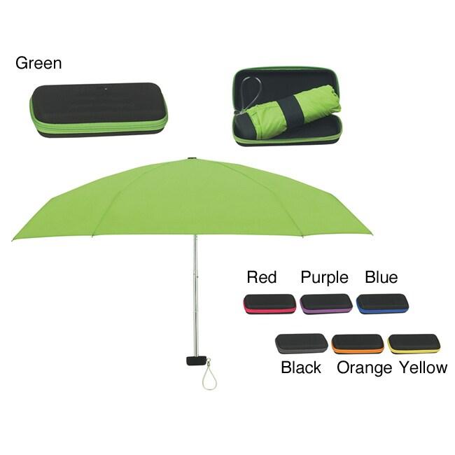 Arc Folding Travel Umbrella with EVA Case (Case of 50)