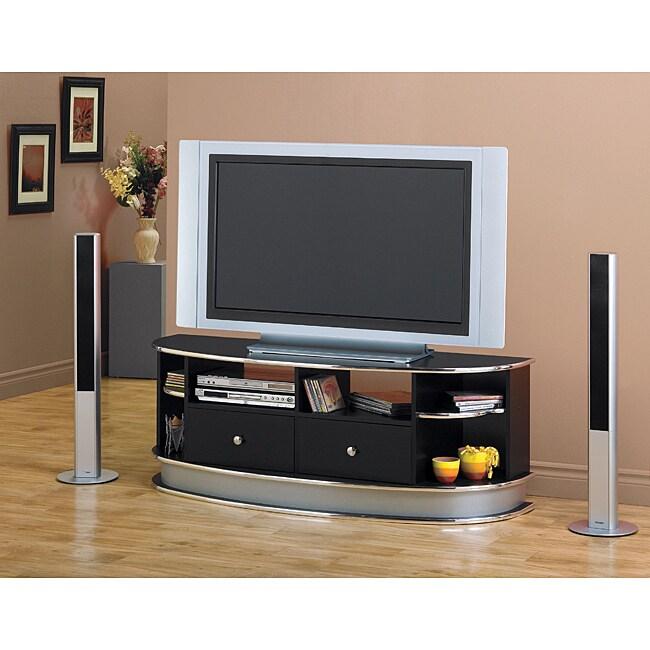 Black/Chrome Widescreen 60-inch TV Console