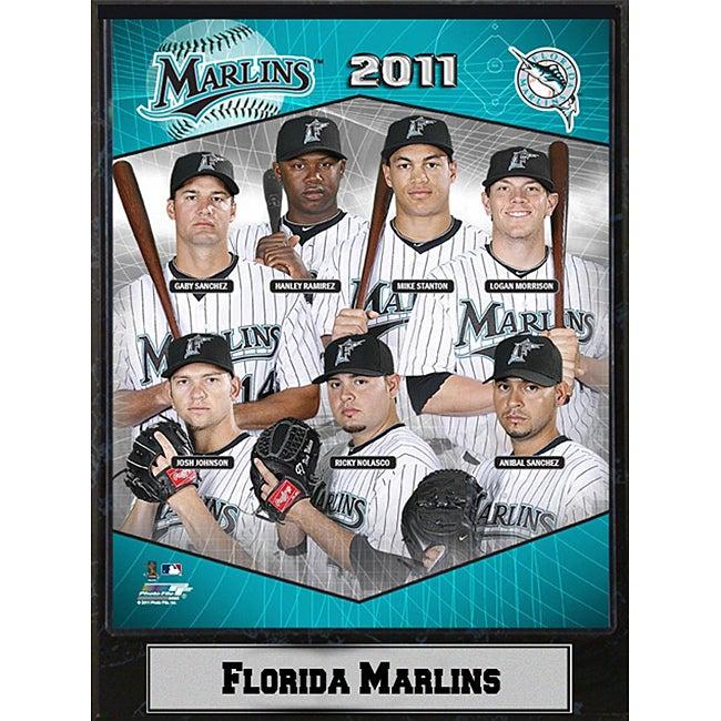 2011 Florida Marlins 9 x 12 Stat Plaque