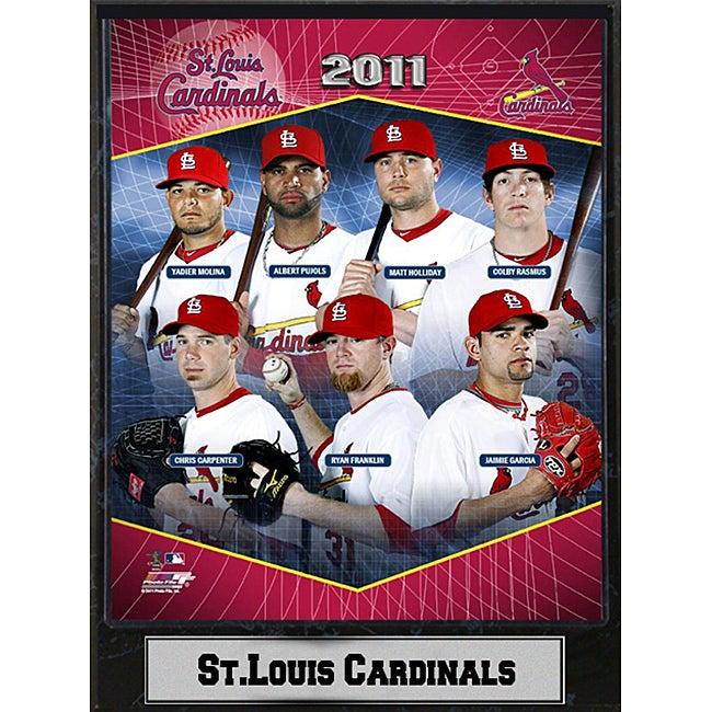 2011 St. Louis Cardinals Stat Plaque