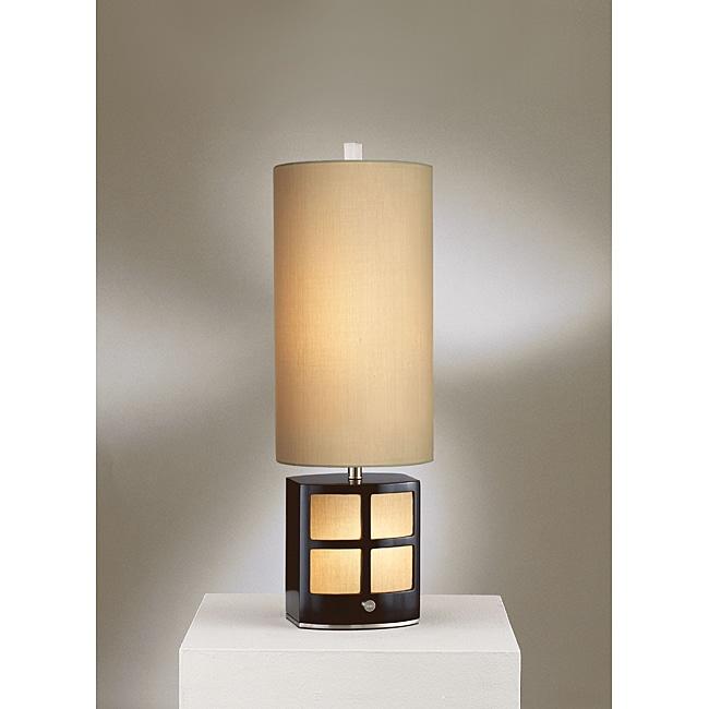 Nova Demi Dark Brown Table Lamp with Night Light