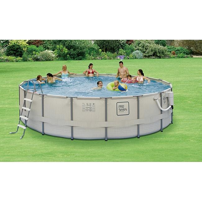 PRO Series 24-foot Round Metal Frame Pool Package