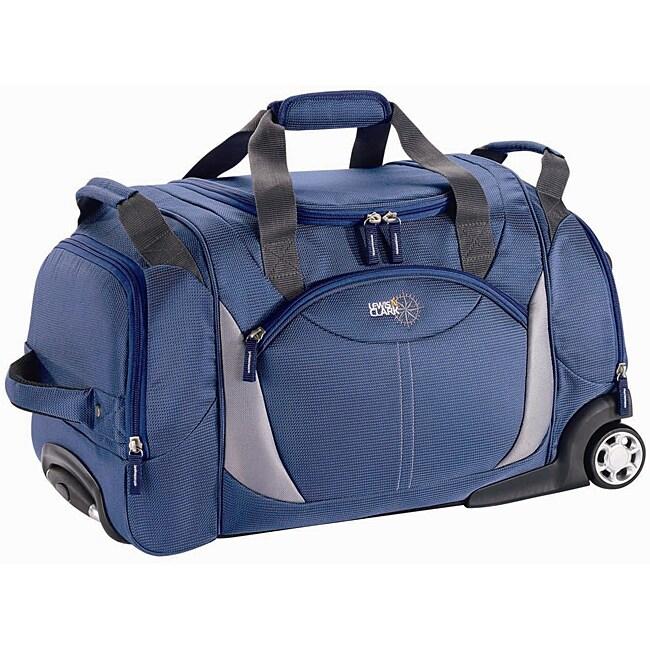 Lewis N. Clark Blue 27-inch Wheeled Upright Duffel Bag