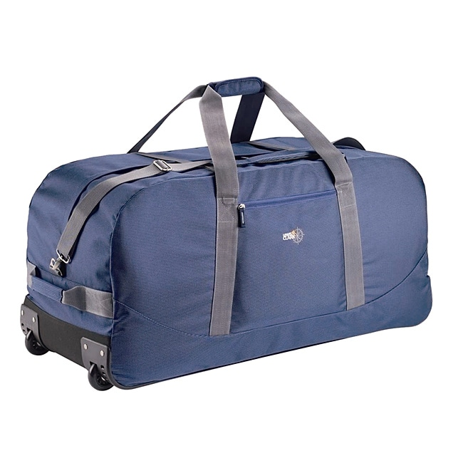 Lewis N. Clark Blue 34-inch Wheeled Upright Duffel Bag