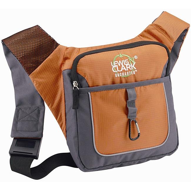 Lewis N. Clark Orange Crossbody Messenger Bag