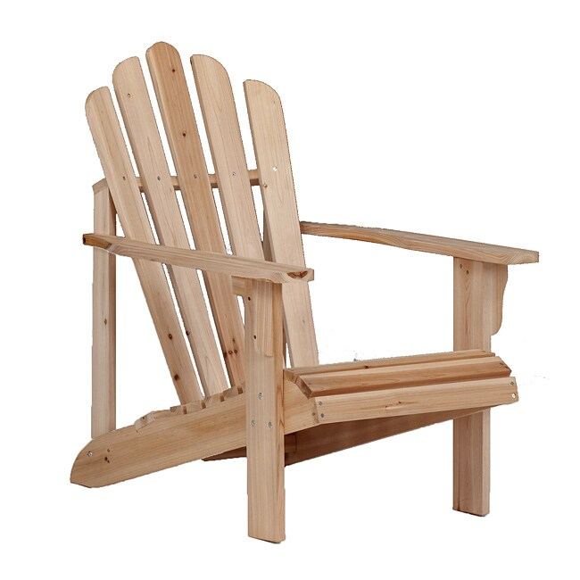 Bernards Addison Unfinished Cedar Adirondack Patio Chair