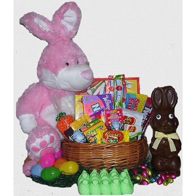 Chocolate Pink Easter Bunny Basket