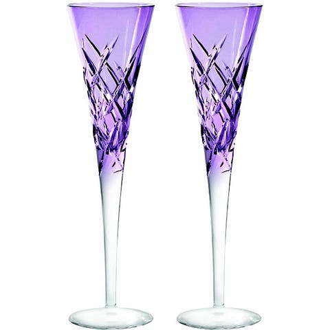 Vera Wang for Wedgwood Duchess Encore Lavender Toasting Flutes (Set of 2)