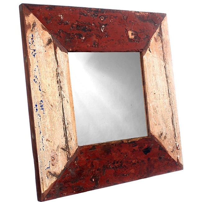 Ecologica Reclaimed Hardwood Square Mirror