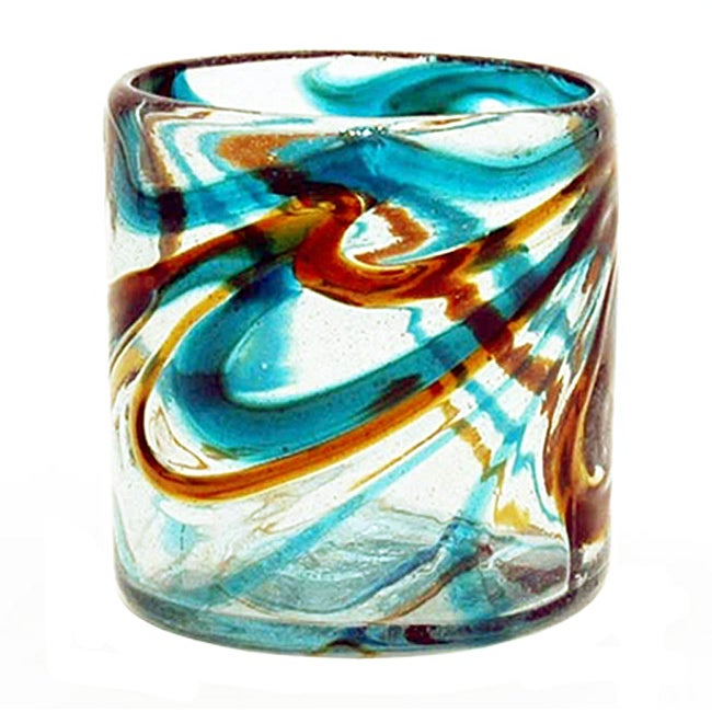 Set of 4 Sinatra Recycled Glass Tumblers (Mexico)