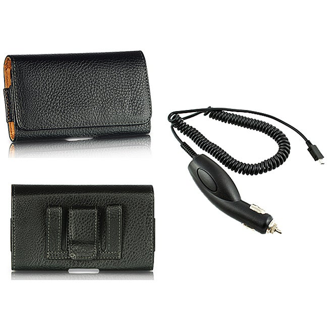 Premium Samsung Galaxy Nexus Leather Case with Car Charger