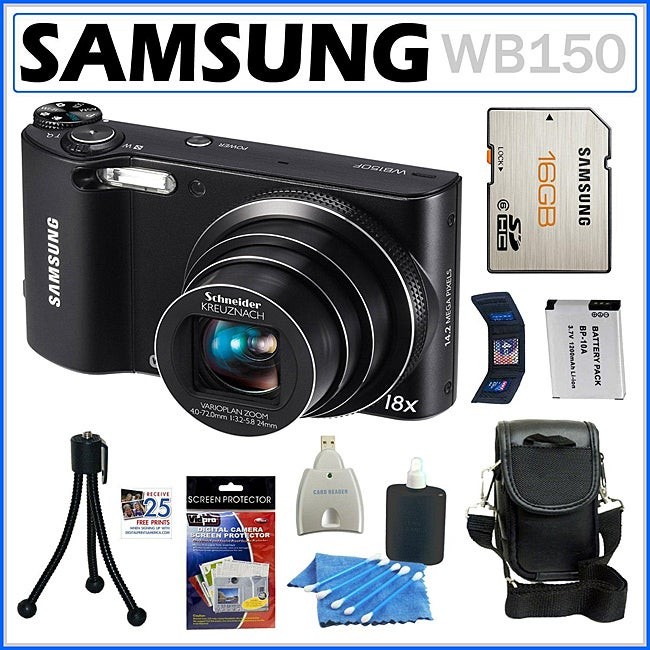 Samsung WB150 14.2MP Digital Camera with 16GB Kit