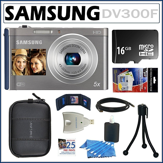 Samsung DV300F DualView 16MP Digital Camera with 16GB Kit - Thumbnail 0