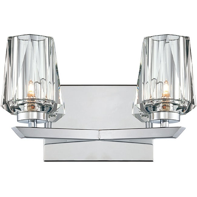 Shar-pei 2-light Bath with Crystal Shades
