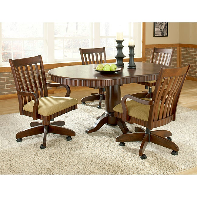 Bernards Chesterfield Cherry Oval Dining Set - Thumbnail 0
