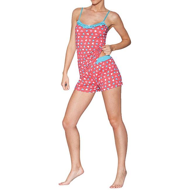 Ilusion Women's Hearts Cami/ Shorts Pajama Set