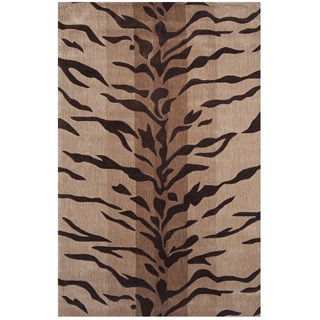 Hand-tufted Dynasty Beige/ Brown Rug (9'6 x 13'6)