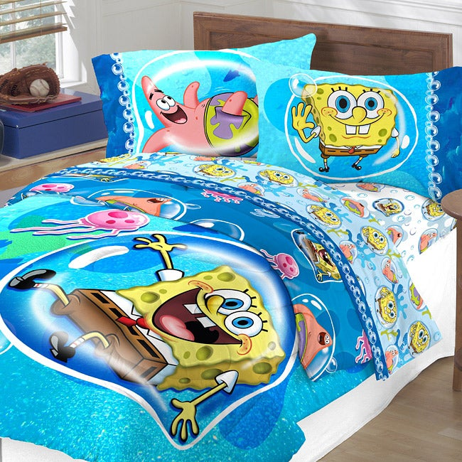 Spongebob Bubble Surprise Full Size 5 Piece Bed In A Bag