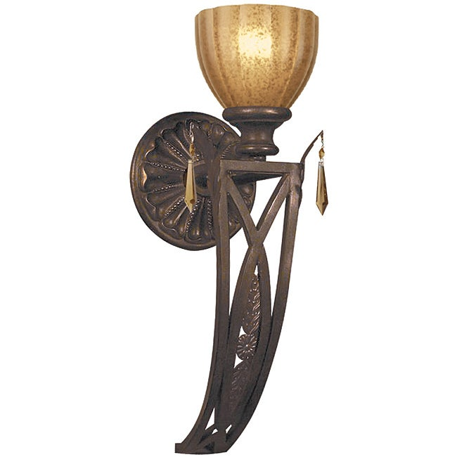 Crystorama Voltaire Espresso 1-light Wall Sconce