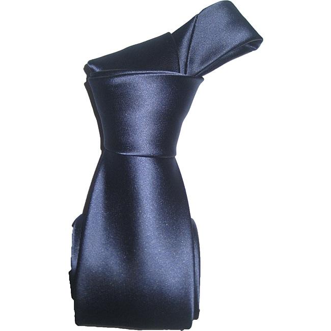 Dmitry Men's Navy Italian Silk Tie