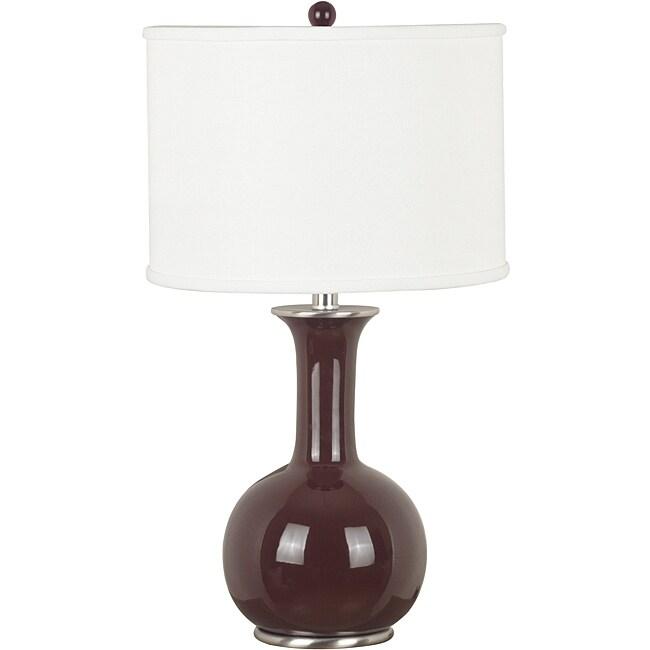 Daniella 25-inch Gloss Chocolate Finish Table Lamp