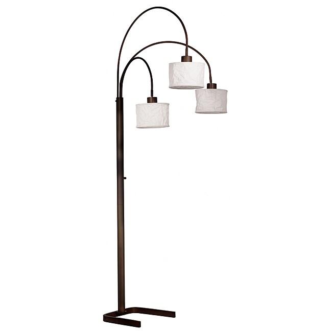 Gorham 82-inch Oil Rubbed Bronze 3-light Arc Lamp
