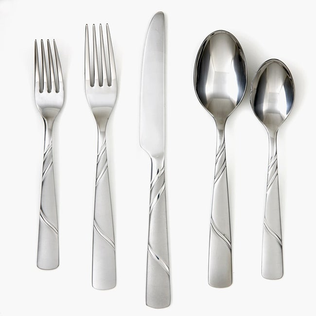 Cambridge Silversmiths Emma Frost 45-piece Flatware Set - Thumbnail 0