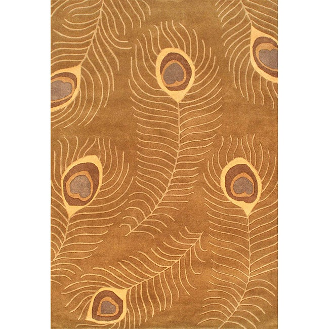 Hand-tufted Spectra Wool Brown Rug (6'7 x 10')