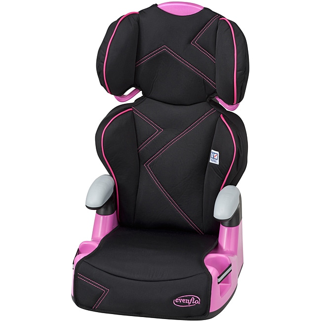 Evenflo AMP High Back Booster Car Seat in Pink Angles - Thumbnail 0