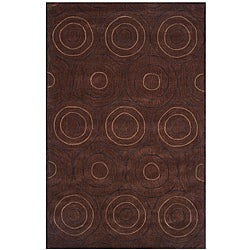 Dynasty Hand-tufted Brown Area Rug (9'6 x 13'6)
