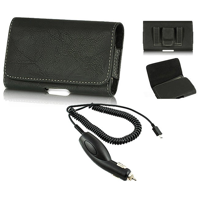 Premium Samsung Galaxy S Blaze 4G Leather Case with Car Charger