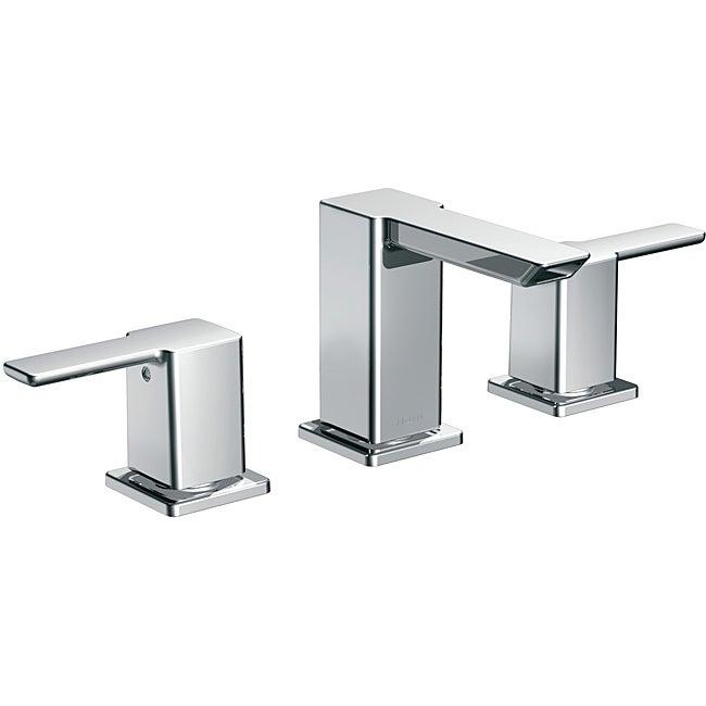 Moen 90-degree Low Arc Chrome Bathroom Faucet