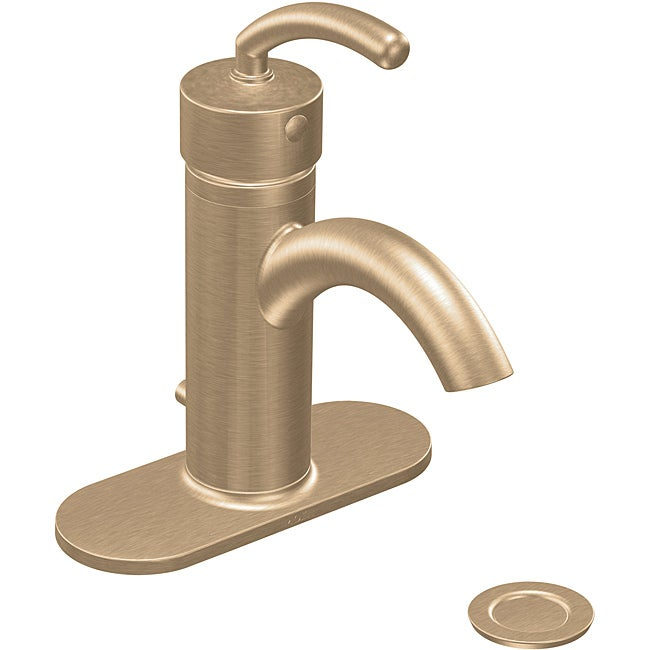 Moen S6500BB ICON One-Handle Low Arc Bathroom Faucet Brushed Bronze