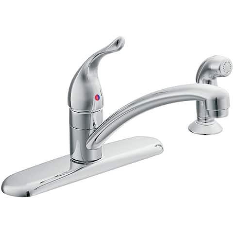 Moen 67430 Chateau One-Handle Low Arc Kitchen Faucet Chrome