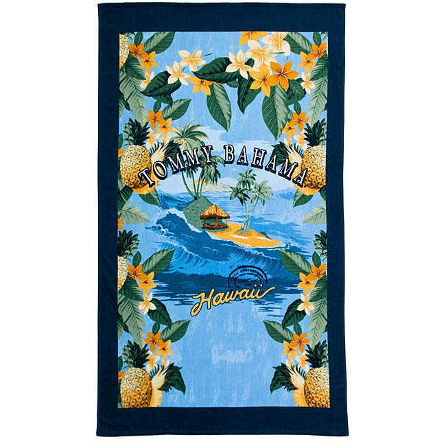Tommy bahama 39 hawaii 39 deluxe cotton beach towel free for Bahama towel chaise cover