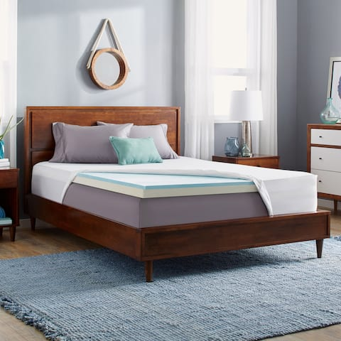 Slumber Solutions Gel Select 3-inch Memory Foam Mattress Topper with Cover
