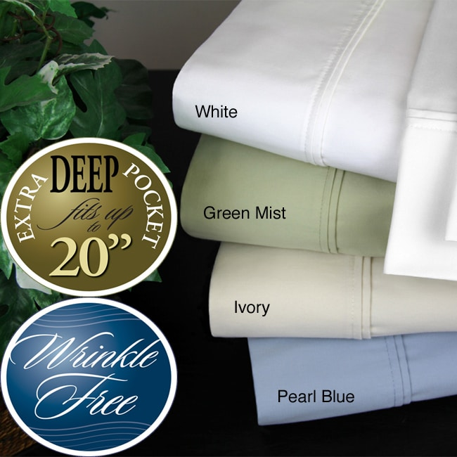 500 Thread Count 4-Piece Wrinkle Free Sheet Set