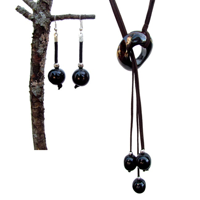 Amazon Waterfall Necklace and Earring Set (Colombia)